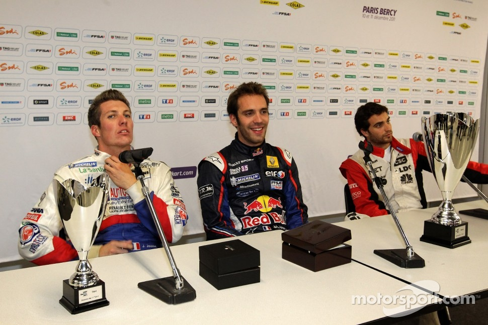 Winner Jean-Eric Vergne, second place Jrme d'Ambrosio, third place Julien Jousse