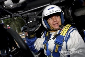 Petter Solberg tests the 2012 Ford Fiesta RS WRC