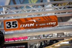 #35 Oak Racing Oak Pescarolo - Judd BMW pit sign