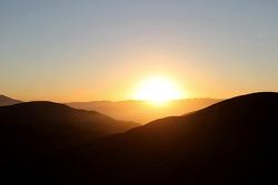 Sunrise over Chile