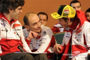 Filippo Preziosi, Ducati Corse General Manager and Valentino Rossi