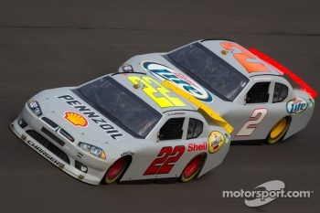 A.J. Allmendinger, Penske Racing Dodge, Brad Keselowski, Penske Racing Dodge