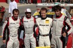 Race winners Khaled Al Qubaisi, Sean Edwards, Jeroen Bleekemolen, Thomas Jger