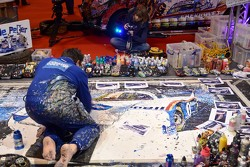 Ian Cook is an artist who uses remote control cars to create motorsport artworks popbangcolour.com