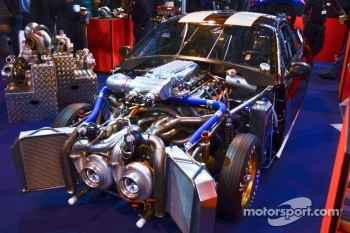 Twin Turbo Mustang dragcar