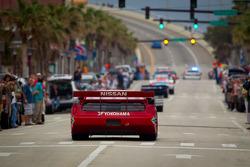Daytona 24 Hours 50th anniversary parade in the street of Daytona Beach