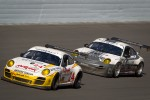 #24 Alex Job Racing Porsche GT3: Michael Avenatti, Bob Faieta, Fred Poordad, Bill Sweedler, Cort Wagner, #44 Magnus Racing Porsche GT3: Andy Lally, Richard Lietz, John Potter, Rene Rast