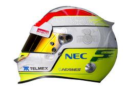 Sergio Perez, Sauber F1 Team helmet