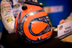 Helmet of Nelson A. Piquet, Kevin Harvick, Inc. Chevrolet