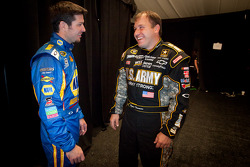 Martin Truex Jr., Michael Waltrip Racing Toyota and Ryan Newman, Stewart-Haas Racing Chevrolet