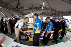Car of Martin Truex Jr., Michael Waltrip Racing Toyota at technical inspection