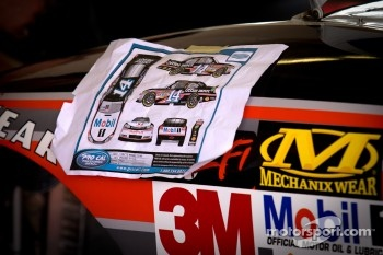 Decals placement chart for Tony Stewart, Stewart-Haas Racing Chevrolet