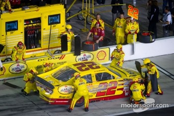 Pit stop for A.J. Allmendinger, Penske Racing Dodge