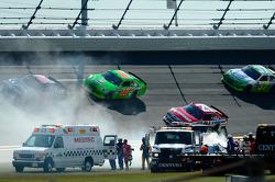 Juan Pablo Montoya, Earnhardt Ganassi Racing Chevrolet after his crash