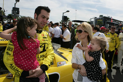 Sam Hornish Jr., Penske Racing Dodge with his Family