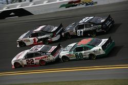 Kurt Busch, Phoenix Racing Chevrolet, Brad Keselowski, Penske Racing Dodge, Joe Nemechek, Nemco Motorsports Toyota, Trevor Bayne, Roush Fenway Ford