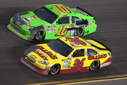 Dave Blaney, Tommy Baldwin Racing Chevrolet and Danica Patrick, Stewart-Haas Racing Chevrolet