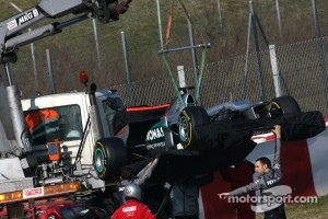 Mercedes playing hide and seek, front and rear wings covered
