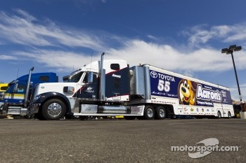 The hauler of Mark Martin, Michael Waltrip Racing Toyota