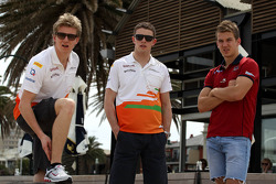 Nico Hulkenberg, Sahara Force India Formula One Team, Paul di Resta, Sahara Force India Formula One Team and Jack Trengove, Australian rules football player