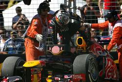 Sebastian Vettel, Red Bull Racing goes off the track on FP3