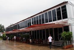 Team paddock buildings