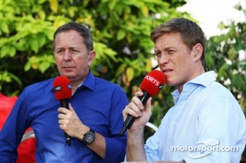 Martin Brundle, Sky Sports Commentator with Simon Lazenby, Sky TV Presenter