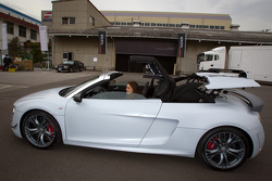 Cyndie Allemann tries the Audi R8 GT Spyder