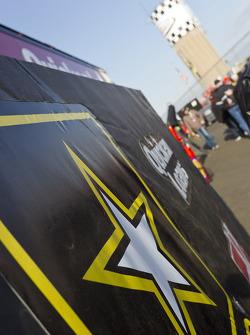 The hauler of Ryan Newman, Stewart-Haas Racing Chevrolet
