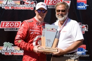 Podium: second place Scott Dixon, Target Chip Ganassi Racing Honda