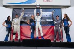 Race #1 L1 Class Podium: Tristan Nunez,  Daniel Goldburg, Mikhail Goikhberg