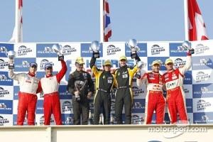 Podium: GTE-pro podium: winners James Walker, Jonny Cocker
