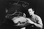 Ferdinand Alexander Porsche next to Modell Typ 911 (1968)