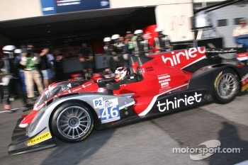 Pit stop for #46 Thiriet by TDS Racing Oreca 03 - Nissan: Mathias Beche, Pierre Thiriet