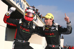 Race winners Mathias Beche and Pierre Thiriet