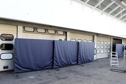 Hidden garage doors