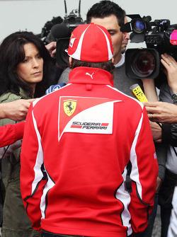 Fernando Alonso, Scuderia Ferrari with the media