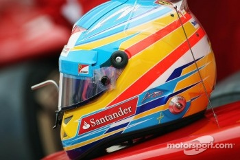 The helmet of Fernando Alonso, Scuderia Ferrari