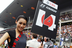 Grid girl for Kamui Kobayashi, Sauber