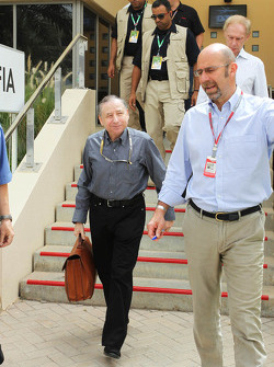 Jean Todt, FIA President, with Norman Howell, FIA Director of Communications (Right)