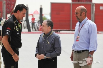 Jean Todt, FIA President, and Norman Howell, FIA Director of Communications (Right)