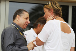 Jean Todt, FIA President with Sabine Kehm, Manager of Michael Schumacher, Mercedes AMG F1