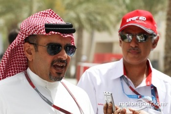 Crown Prince Shaikh Salman bin Isa Hamad Al Khalifa, with Zayed Rashed Al Zayani, Chairman of Bharain International Circuit