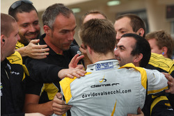 Race winner Davide Valsecchi