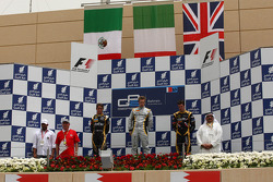 Podium: race winner Davide Valsecchi, second place Esteban Gutierrez, third place James Calado