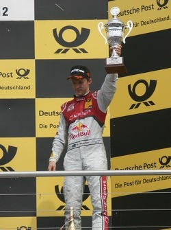 3rd Mattias Ekström, Audi Sport Team Abt Sportsline, Audi A5 DTM, Podium