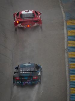 #69 AIM Autosport Team FXDD Racing with Ferrari Ferrari 458: Emil Assentato, Jeff Segal, #67 TRG Porsche GT3: Steven Bertheau, Spencer Pumpelly