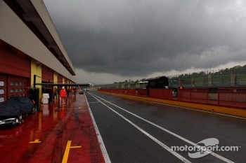 Rain clouds over the circuit