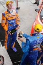 Race winner Will Davison and second place Mark Winterbottom