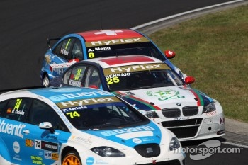 Pepe Oriola, SEAT Leon WTCC, Tuenti Racing Team, Mehdi Bennani, BMW 320 TC, Proteam Racing and Alain Menu, Chevrolet Cruze 1.6T, Chevrolet